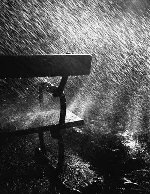 Robert Häusser: Bank im Regen, 1942