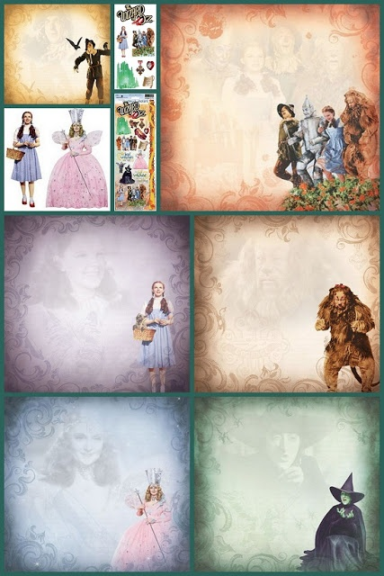 Wizard of Oz Scrapbooking Collage