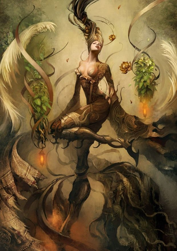 November erotic mythical fantasy art