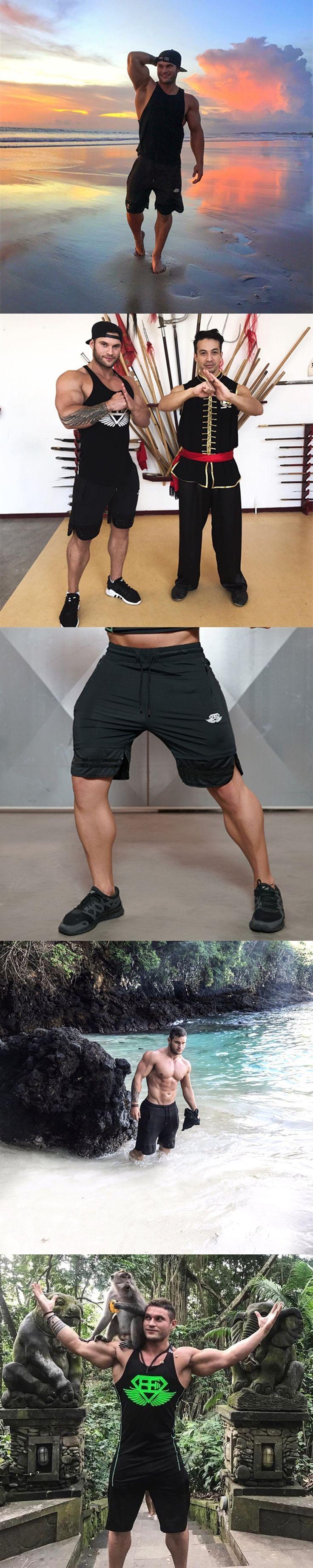 Fashion Men New Sporting Shorts Trousers Sweatpants Fitness Short Jogger Casual Gyms Black Short Pants