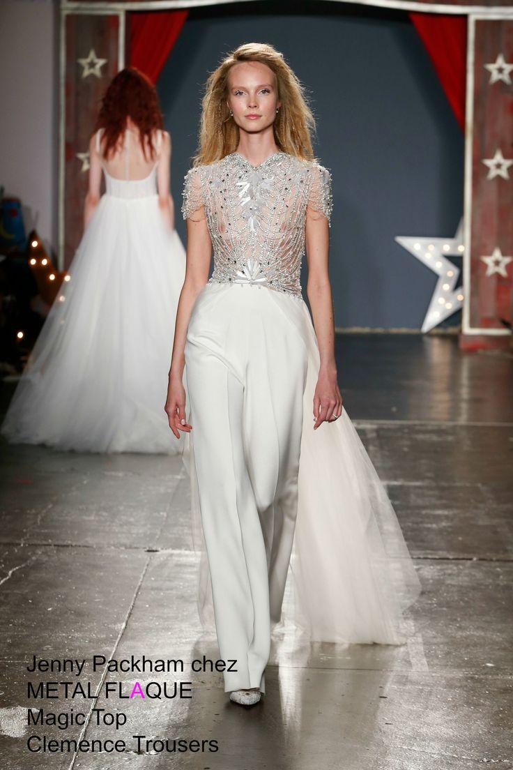 Pantalon Clemence, top Magic,  Jenny Packham à Paris.  #robedemariée #robesdemariée #weddingdress #weddingdresses #JennyPackham