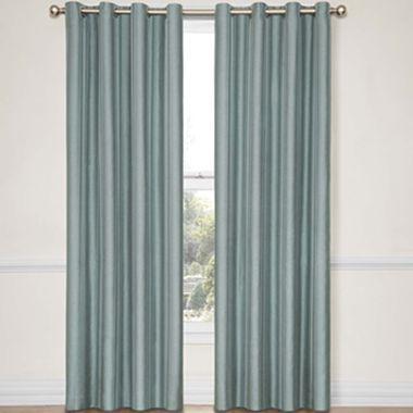 Eclipse Handel Stripe Grommet Top Blackout Curtain Panel