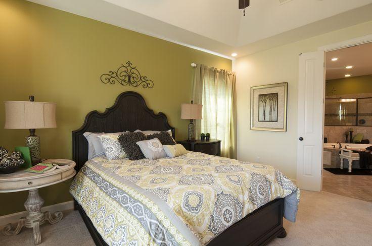 regency homebuilders large master bedroom neutral pops of color