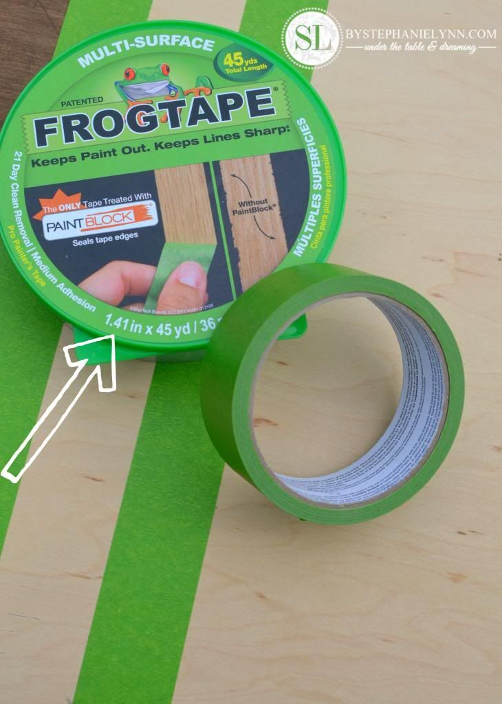 Frog Tape- Best tape for clean lines for painting or staining projects