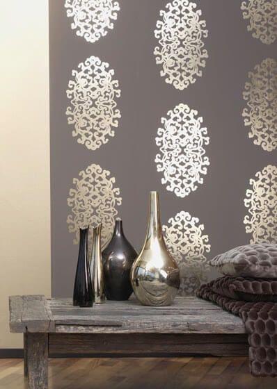 wallpaper trends 2016 19 stunning examples of metallic wallpaper - Wall Paper Interior Design