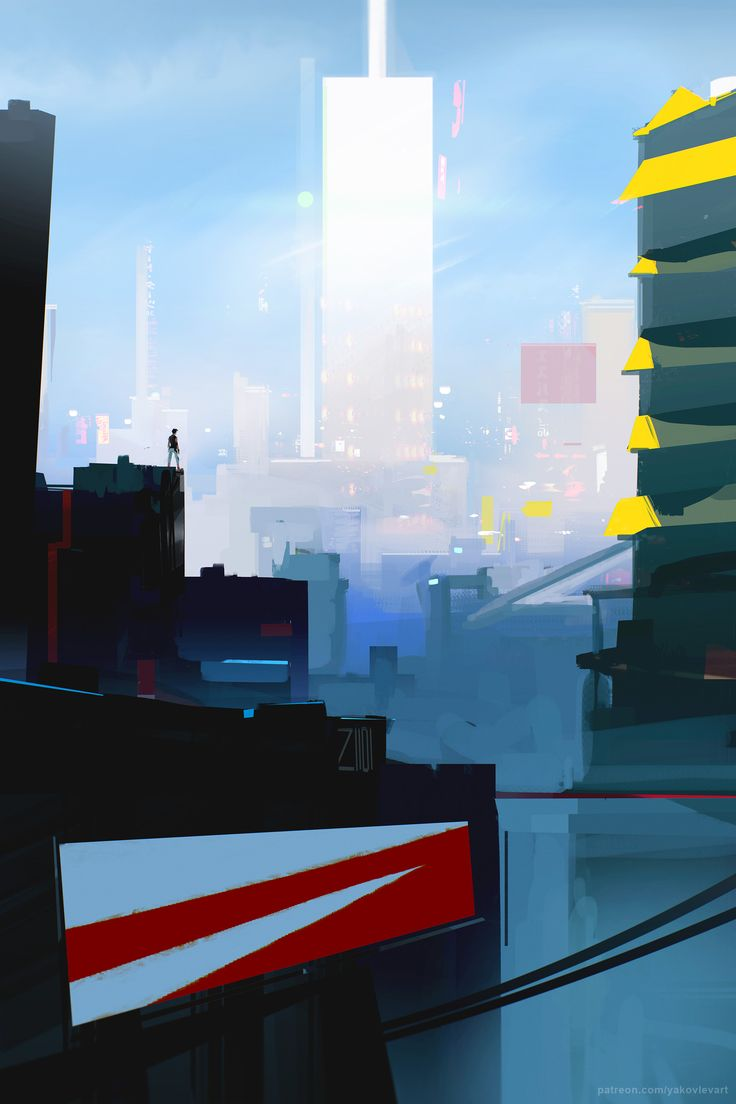 Mirror's Edge painting I did last night. So excited for this game!