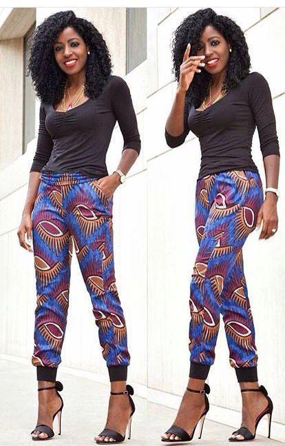 Pantalon en Wax ~African fashion, Ankara, kitenge, African women dresses, African prints, Braids, Nigerian wedding, Ghanaian fashion, African wedding ~DKK: