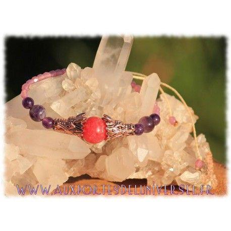 """Bracelet """"Souffle guérisseur du dragon"""" une création de la boutique ésotérique en ligne Aux Portes de l'Universel"""