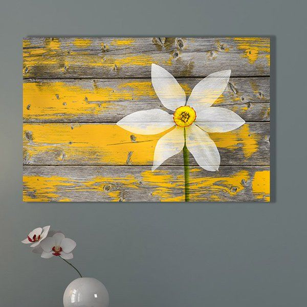 A Rustic Paradise Graphic Art Print On Canvas In 2020 Yellow Bedroom Decor Yellow Wall Decor Grey And Yellow Living Room #rustic #grey #and #yellow #living #room