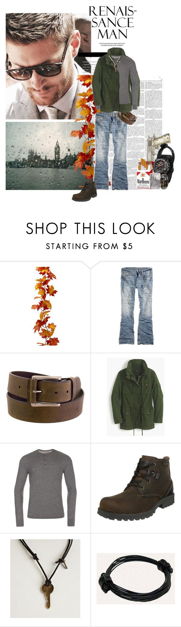"""`another day, another penny"" by mars-phoenix ❤ liked on Polyvore featuring American Eagle Outfitters, Wrangler, J.Crew, Paul Smith, Skechers, MTM Special Ops and Zippo"