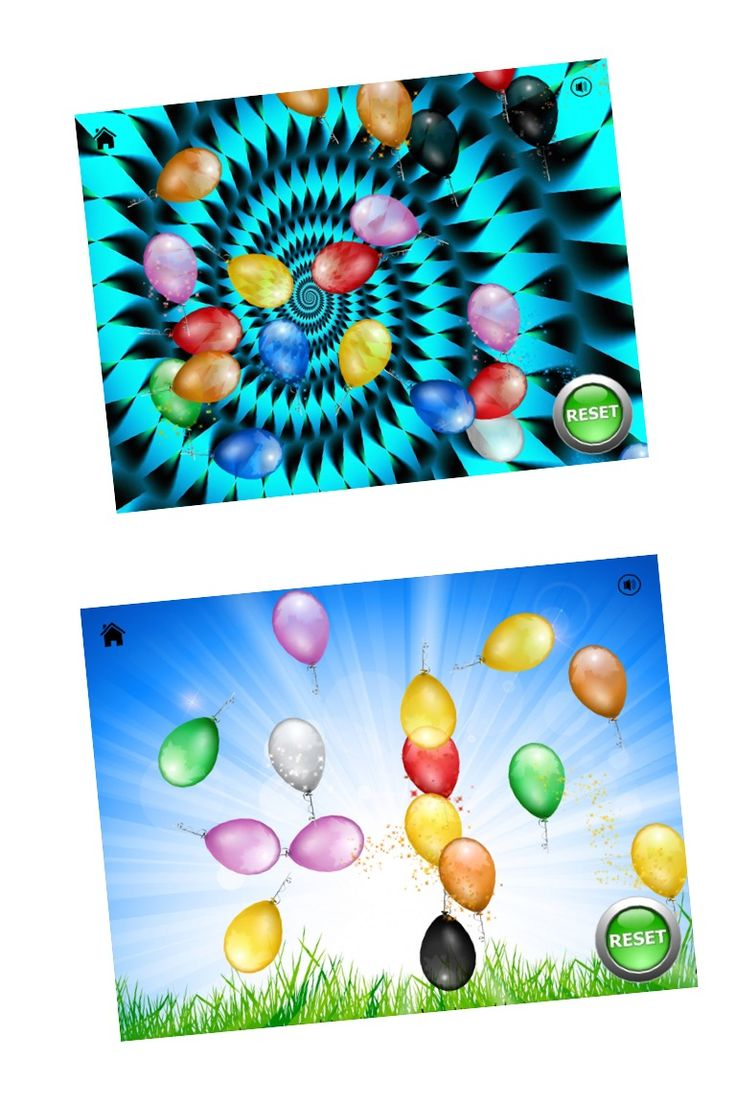 -Balloon Sensory Touch- This application supports cause and effect play development, joint attention and fine motor skill development. Touch the screen and watch balloons appear, fly, spin and sparkle! Every time a balloon appears, a funny sound is played. Will you hear a giggle, a bell ring or a lion roar??