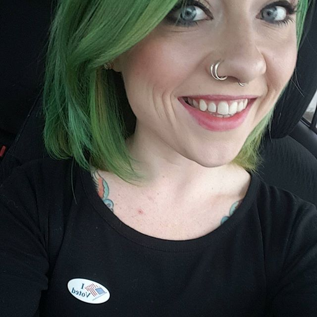 Get your asses out and vote today. That is all. #IVoted #Vote #Election2016  #manicpanic #greenenvy #greenhairdontcare ER Déjà Vu & Veterans Day Weekend - This Weeks Blog Posted - See Link In Bio!  #itcouldbeworse #crohns #blog