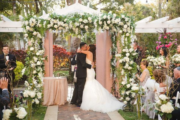 Garden ceremony  #wedding #weddings #weddinginspiration #engaged #aislesociety #glamwedding