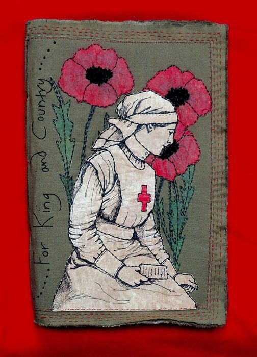 Frances Pickering - Textile Artist This appeals to me a lot, since for a brief time, I portrayed a British Red Cross nurse at an amazing WWI reenactment in Southeastern Pennsylvania. Alas, living in Illinois makes it virtually impossible for me to keep on doing it, but it was a special time for me -- I was the only British Red Cross nurse at the time, and did all the research on my own -- and was basically accepted. I had a lot of help from the British Red Cross museum in London.