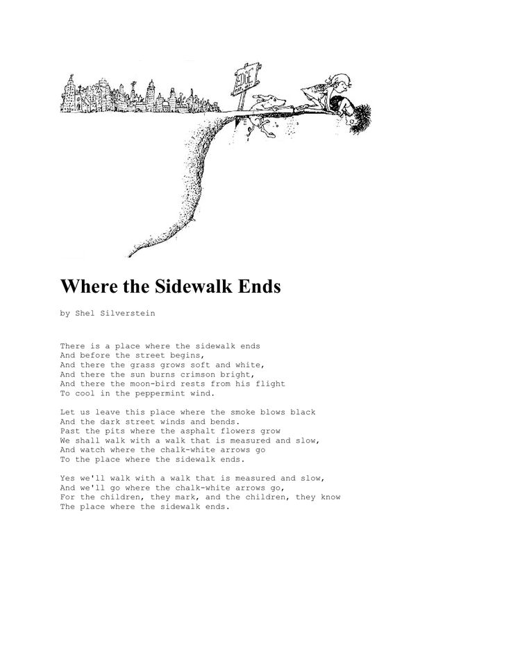 Where The Sidewalk Ends By Shel Silverstein Poems
