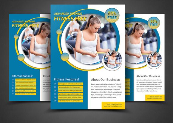 128 best Flyer and Poster Ideas for Personal Trainers images on - Gym Brochure Templates