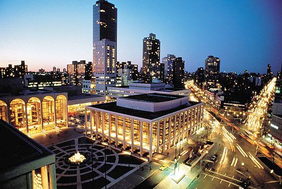 LINCOLN CENTER   Upper West Side   70 Lincoln Center Plaza   Lincoln Center offers world-class dining and entertainment. The New York City Ballet, the Metropolitan Opera House and more are all housed in this plaza. Lincoln Center is the perfect place for an evening of aural and visual pleasure.