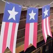 Stars and Stripes Pennant Banner - Party Decoration Craft Projects - Aunt Annie's Crafts
