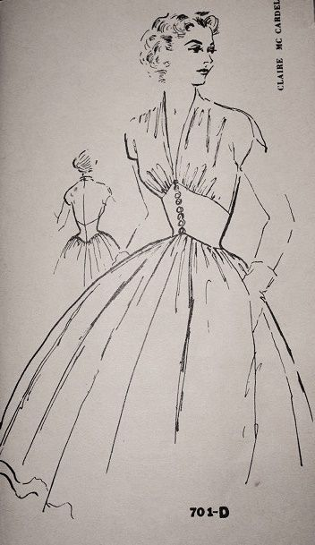 Spadea701-D, early 1950s dress designed by Claire McCardell