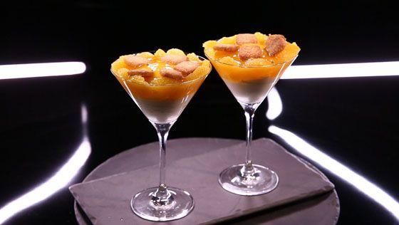 - Pâte sablée- Gelée d'orange et fruit de la Passion- Crème au cream-cheese