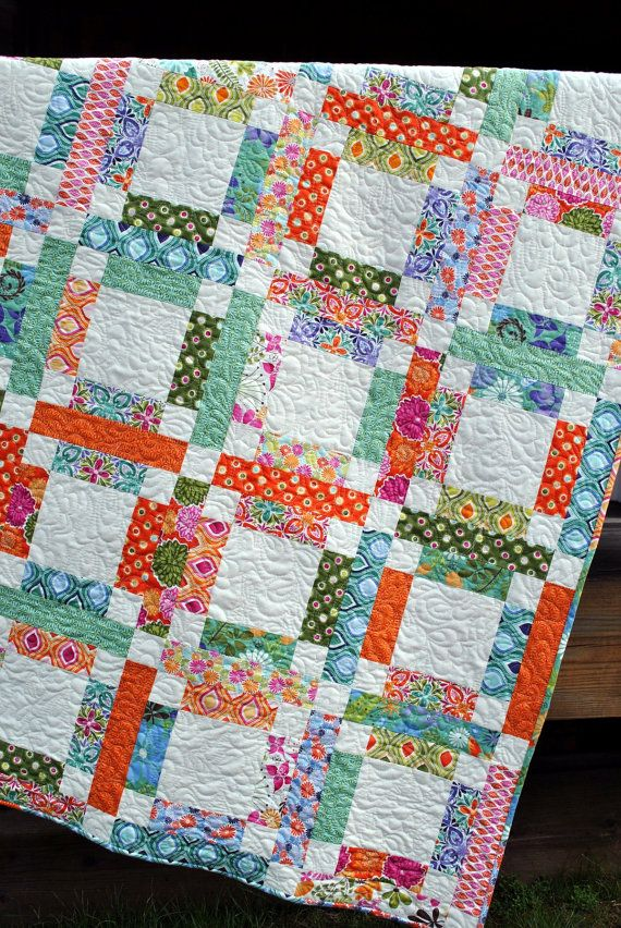 QUILT PATTERN....One Jelly Roll, EASY and Quick, Grandma Mary s Five Patch Patterns, Fabrics ...