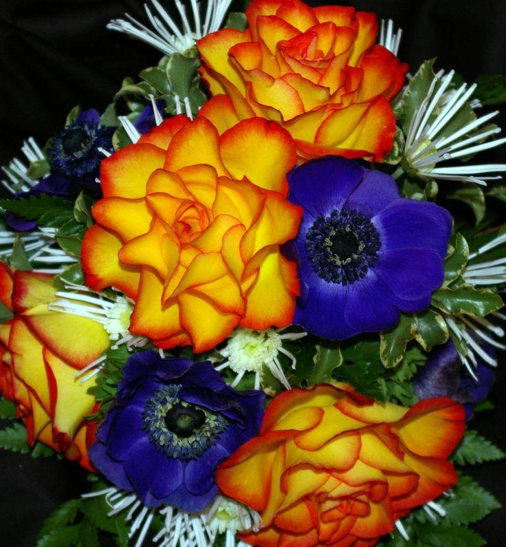 Purple and Orange Wedding Flowers | Tufty's