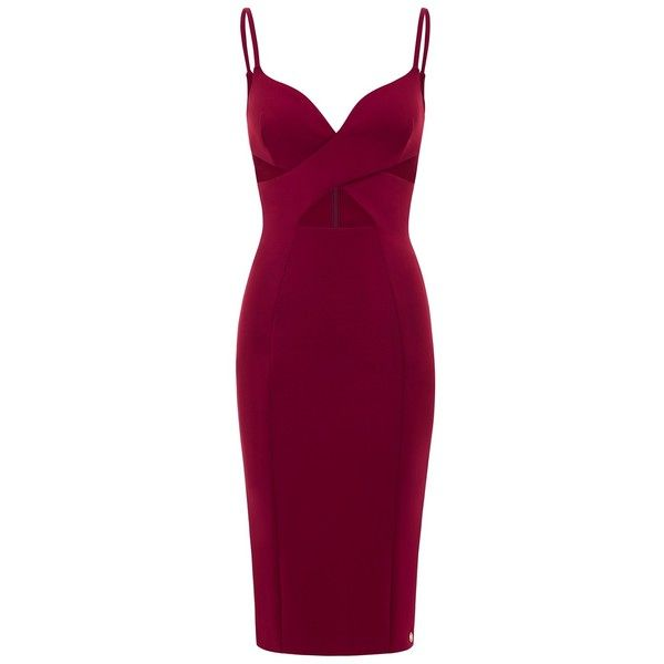 Aloura London - Maddox Dress Dark Red found on Polyvore featuring dresses, vestidos, cut out dress, sweetheart dress, party dresses, sweetheart cocktail dress and purple party dresses