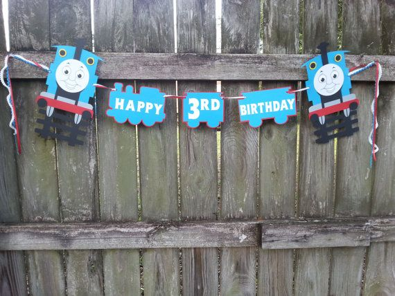 Thomas the Train Happy Birthday Garland by EventBlissBama on Etsy