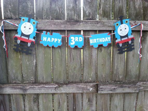 Thomas the Train Happy Birthday Garland by EventBlissBama on Etsy