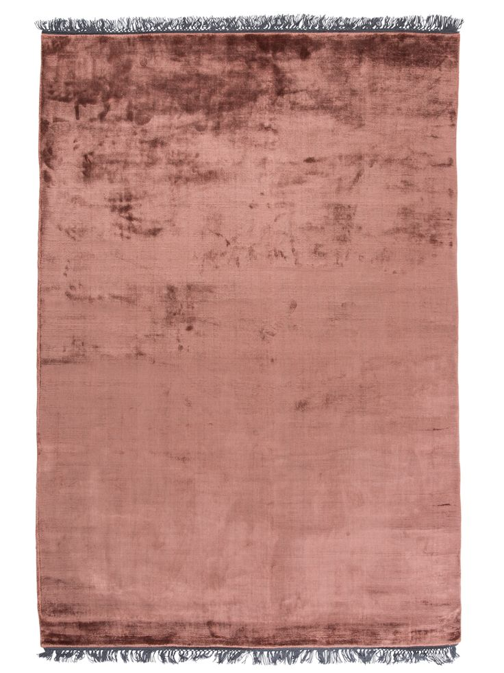 Exquisitely blush copper toned rug hand tufted from pure, unbelievably silky viscose