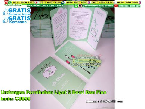 Undangan Pernikahan Lipat 3 Dewi Dan Fian Hub: 0895-2604-5767 (Telp/WA)undangan pernikahan unik, undangan pernikahan lipat 3, undangan pernikahan warna cantik, undangan pernikahan kombinasi gambar bagus, undangan pernikahan murah, undangan pernikahan sederhana, undangan pernikahan cantik, undangan pernikahan keren #undanganpernikahankeren #undanganpernikahanlipat3 #undanganpernikahancantik #undanganpernikahanmurah #undanganpernikahanwarnacantik #