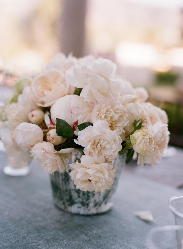 ♕ white peonies & roses