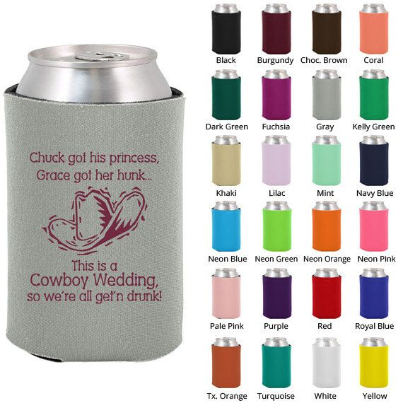 Wedding coozies clipart 1605 cowboy wedding for Beer koozie wedding favors