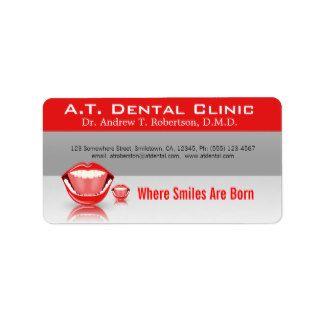 Etiquetas dentales profesionales del remite de la etiqueta de dirección
