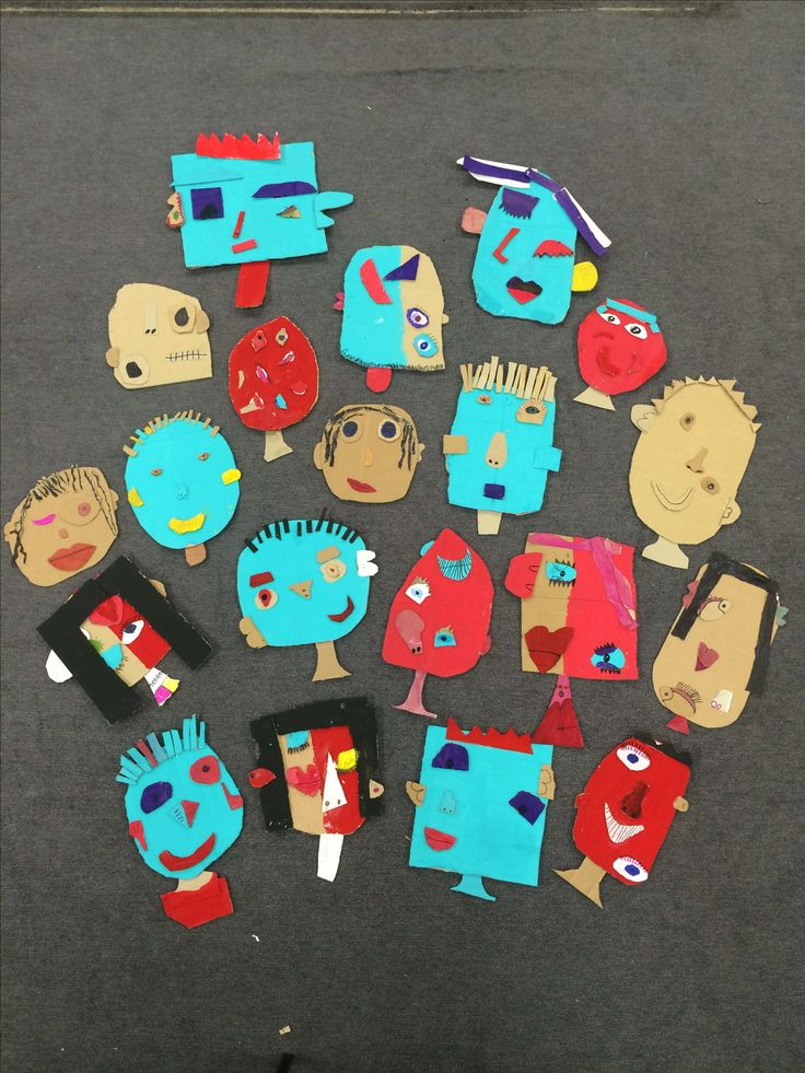 Picasso cardboard faces by year 2