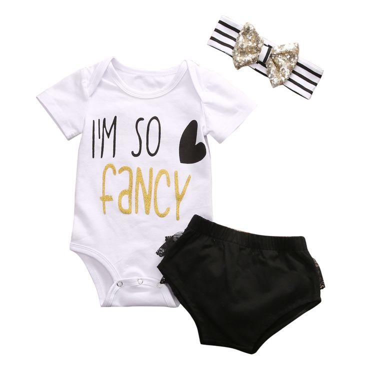 $5.25 (Buy here: https://alitems.com/g/1e8d114494ebda23ff8b16525dc3e8/?i=5&ulp=https%3A%2F%2Fwww.aliexpress.com%2Fitem%2F3PCS-Set-Newborn-Infant-Baby-Girl-Clothes-2017-Summer-I-AM-SO-Fancy-Cotton-Romper-Lace%2F32794935860.html ) 3PCS Set Newborn Infant Baby Girl Clothes 2017 Summer I AM SO Fancy Cotton Romper +Lace Bottom Ruffles Suit Clothing Set 0-24M for just $5.25