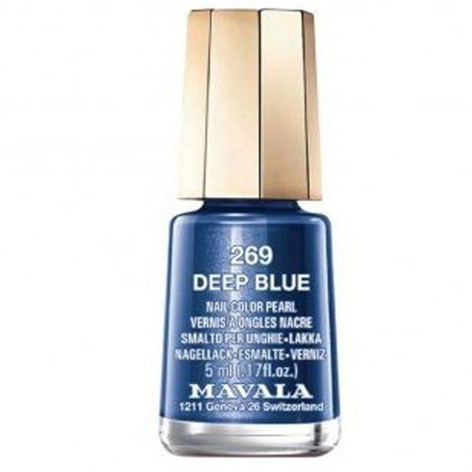 Mavala nail polish in Deep Blue 269.