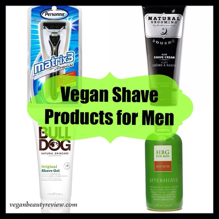 vegan shave products for men