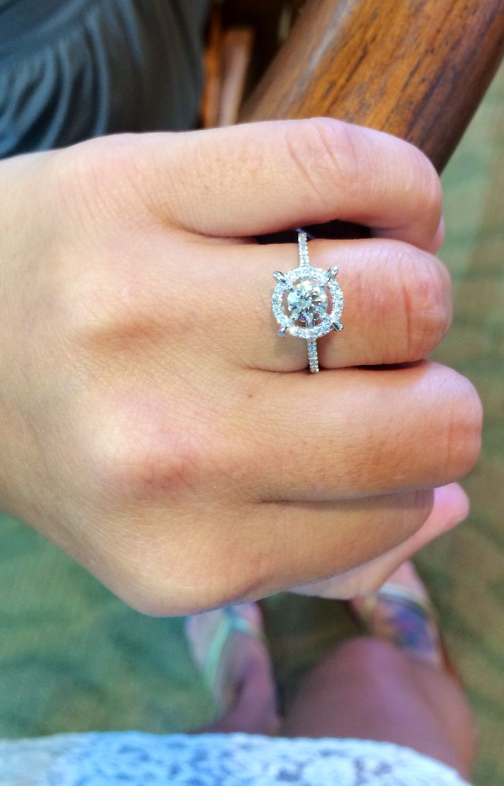 Such a unique nautical engagement ring.