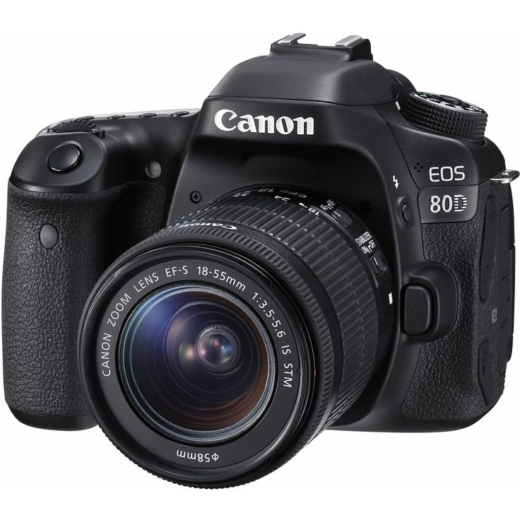 "Canon EOS 80D EF-S 18–55mm IS STM Kit (1263C005) HIGHLIGHTS: - 24.2MP APS-C CMOS Sensor - DIGIC 6 Image Processor - 3.0"" 1.04m-Dot Vari-Angle Touchscreen - Full HD 1080p Video Recording at 60 fps - 45"