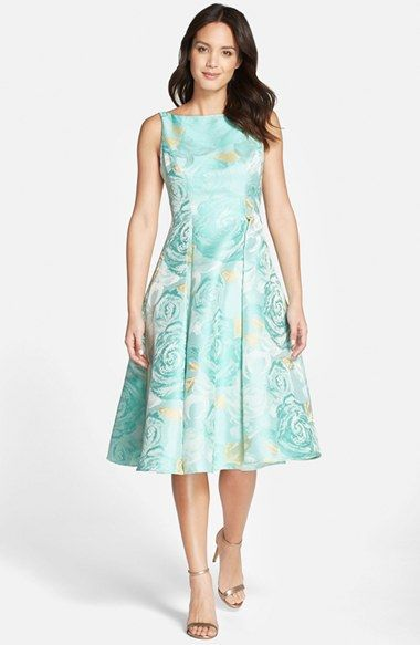 Tea Length Fit and Flare Dresses