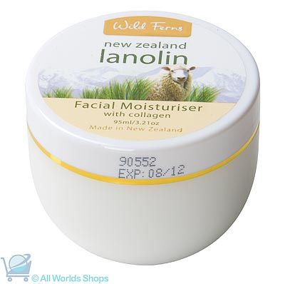 Lanolin Facial Moisturizer with Collagen - Wild Ferns - 95ml | Shop New Zealand