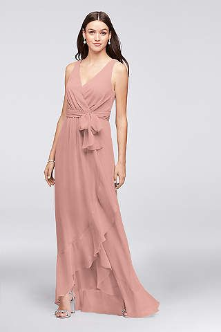 93f6ed0b8e6ed View Tank V Neck Bridesmaid Dress at David's Bridal | Hitched in ...