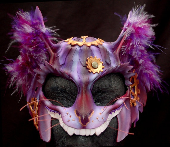 Steampunk Cheshire Cat Mask, I love anything that is Alice in Wonderland