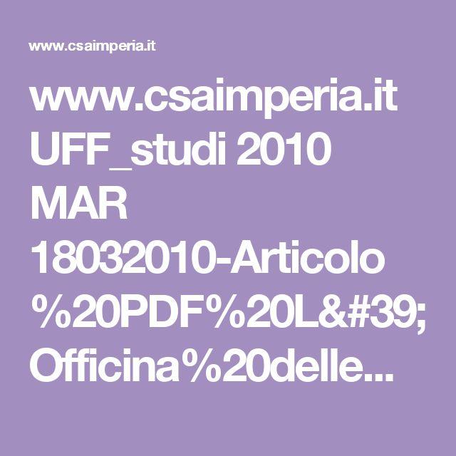 www.csaimperia.it UFF_studi 2010 MAR 18032010-Articolo%20PDF%20L'Officina%20delle%20emozioni.pdf