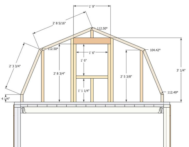 Micro gambrel gambrel wall 0 sue pinterest house for Gambrel barn house plans