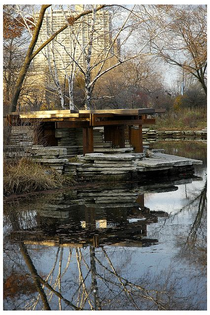 Alfred Caldwell Lily Pool, Lincoln Park, by swanksalot, via Flickr