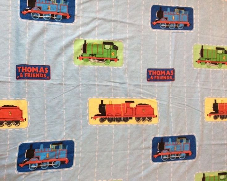 Thomas And Friends Full Double Flat Sheet Fabric Cutters 78x92 Percy James Train #HITEntertainment
