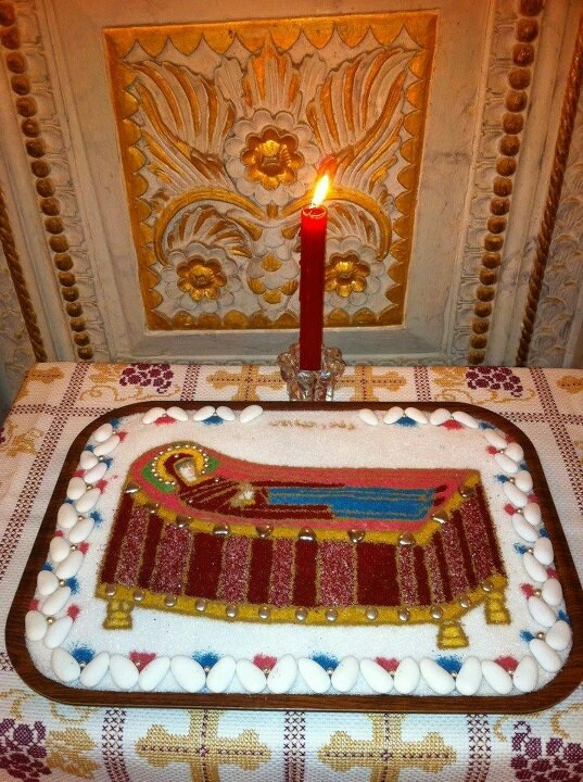 Koliva (funeral wheat) for the Dormition of the Theotokos