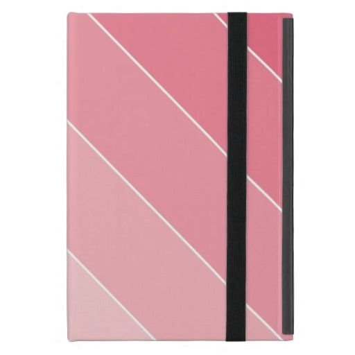 Pink Ombre Stripes Cases For iPad Mini